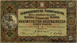 5 Francs SUISSE  1946 P.11l TB