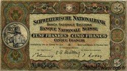 5 Francs SUISSE  1947 P.11m TB+