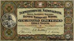 5 Francs SUISSE  1947 P.11m TTB+