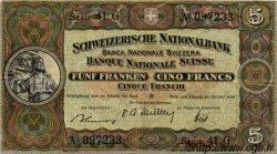 5 Francs SUISSE  1949 P.11n TTB