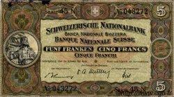 5 Francs SUISSE  1949 P.11n TB