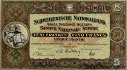 5 Francs SUISSE  1951 P.11o SUP