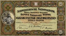 5 Francs SUISSE  1951 P.11o pr.NEUF