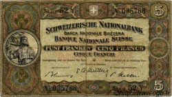 5 Francs SUISSE  1951 P.11o TB