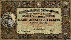 5 Francs SUISSE  1952 P.11p TTB+