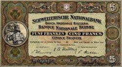 5 Francs SUISSE  1952 P.11p pr.NEUF