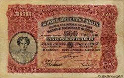 500 Francs SUISSE  1923 P.29 TB+