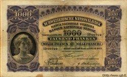 1000 Francs SUISSE  1923 P.30 pr.TB