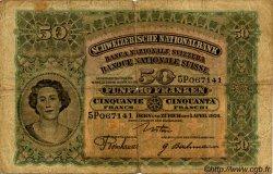 50 Francs SUISSE  1924 P.34a B