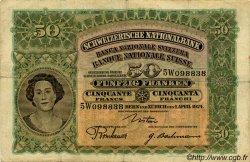 50 Francs SUISSE  1924 P.34a TB+