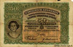 50 Francs SUISSE  1924 P.34a B+