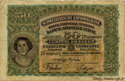 50 Francs SUISSE  1929 P.34d TB