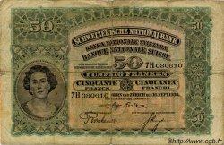 50 Francs SUISSE  1930 P.34e pr.TB