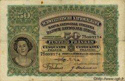 50 Francs SUISSE  1931 P.34f TB+ à TTB