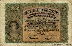 50 Francs SUISSE  1937 P.34g TB