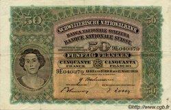 50 Francs SUISSE  1939 P.34i TTB