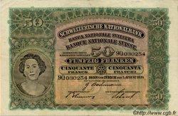 50 Francs SUISSE  1939 P.34j TTB+