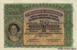 50 Francs SUISSE  1939 P.34k TTB+ à SUP