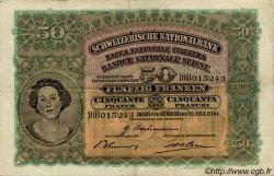 50 Francs SUISSE  1941 P.34l TTB