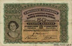 50 Francs SUISSE  1941 P.34l TB+