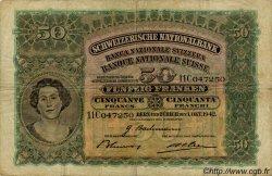 50 Francs SUISSE  1942 P.34m TB