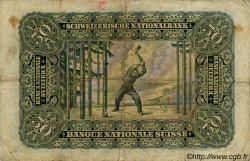 50 Francs SUISSE  1943 P.34n TB