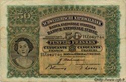 50 Francs SUISSE  1943 P.34n TB+