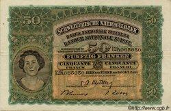 50 Francs SUISSE  1947 P.34o TTB