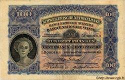 100 Francs SUISSE  1927 P.35c TTB