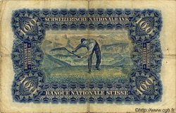 100 Francs SUISSE  1938 P.35j TB