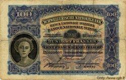 100 Francs SUISSE  1939 P.35k pr.TB
