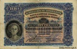 100 Francs SUISSE  1940 P.35m TB