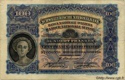 100 Francs SUISSE  1940 P.35m TB+