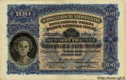 100 Francs SUISSE  1943 P.35o TTB
