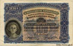 100 Francs SUISSE  1947 P.35u TB+