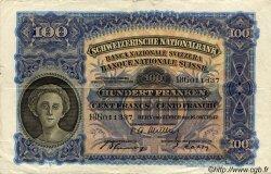 100 Francs SUISSE  1947 P.35u TTB