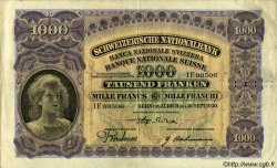 1000 Francs SUISSE  1930 P.37b pr.TTB