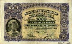 1000 Francs SUISSE  1931 P.37c TB+