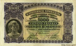 1000 Francs SUISSE  1942 P.37f TTB