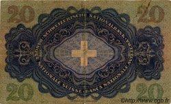 20 Francs SUISSE  1930 P.39b TB