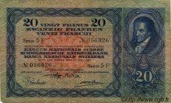 20 Francs SUISSE  1931 P.39c TB
