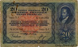20 Francs SUISSE  1931 P.39c B