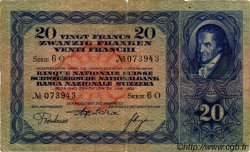 20 Francs SUISSE  1933 P.39d B+