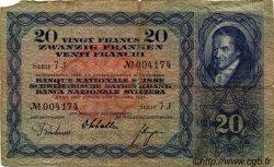 20 Francs SUISSE  1935 P.39e B