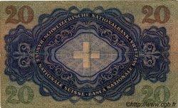 20 Francs SUISSE  1938 P.39h TB