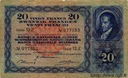 20 Francs SUISSE  1939 P.39i TB