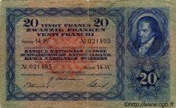 20 Francs SUISSE  1940 P.39k TB