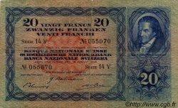 20 Francs SUISSE  1940 P.39k B+
