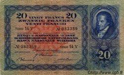 20 Francs SUISSE  1940 P.39k pr.TTB