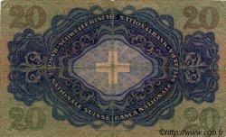 20 Francs SUISSE  1942 P.39l B+